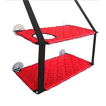 JYCRA - Asiento de perca para gato, hamaca para mascotas, asiento de asientos con ventosas de seguridad, estantes ...