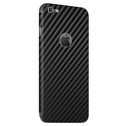 BodyGuardz - Carbon Fiber Armor, Protective Skin for iPhone 6 and 6S (Black)