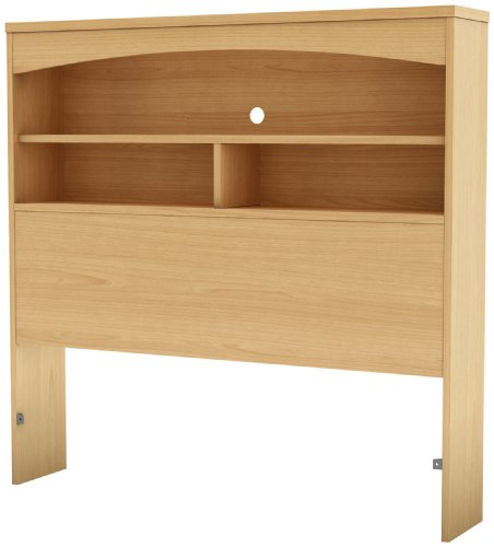 Maple Storage Headboard - South Shore Step One Collection Twin 39-Inch Bookcase Headboard, Natural Maple