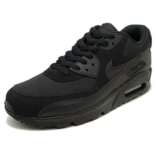 Nike Nike Mens Air Max 90 Essential Running Shoes Black/Black 537384-090 Size 8.5 price tips cheap