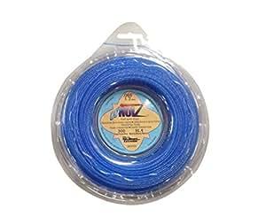 LoNoiz .065-Inch-by-300-Foot Spool Commercial Grade Spiral Twist Quiet 1/2-Pound Grass Trimmer Line, Blue LN065DS-12