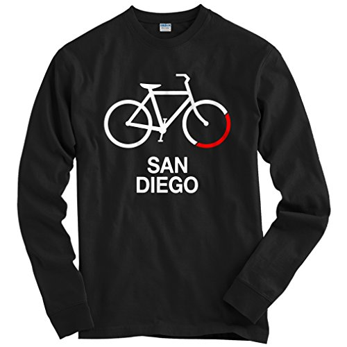 Smash Transit Men's Bike San Diego Long Sleeve T-Shirt - Black, XX-Large