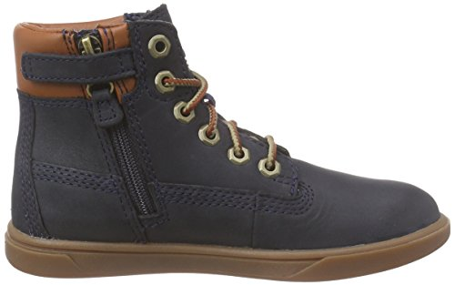 Timberland Groveton 6in, Unisex-Kinder Hohe Sneakers, Blau (Navy with Tan), 20.5 EU