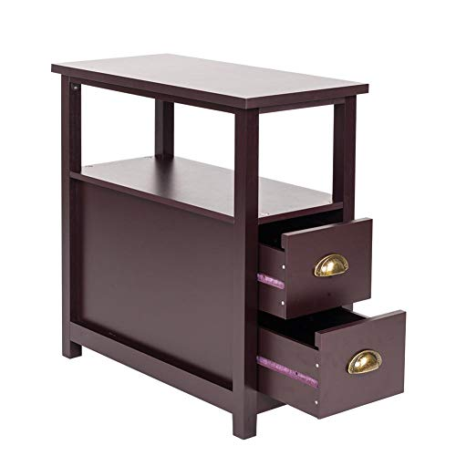 Wind-Susu Double-Tier Side Table Sofa Side Narrow End Table