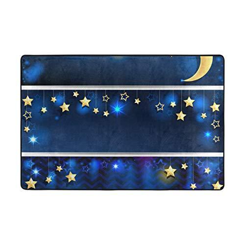 MONTOJ Room Stars and Moon Pendant Pattern Floor mat Area Rugs Super Soft Living Room Bedroom Home Decoration Carpet Doormat - Outdoor Cod Pendant Cape