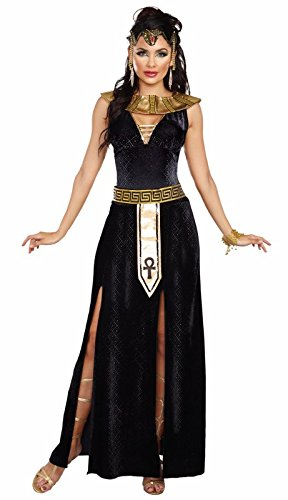 Dreamgirl Women's Exquisite Cleopatra Costume, Black/Gold, -