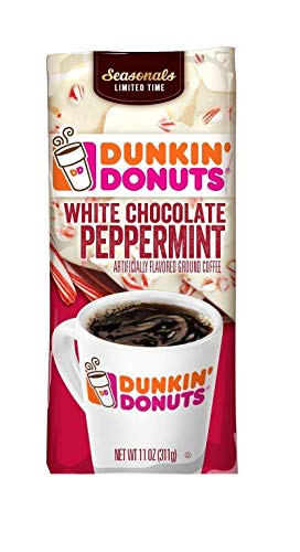 Dunkin Donuts White Chocolate Peppermint, 11 Oz Bag (Pack of 3)