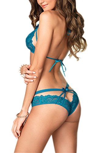 UTOVME-Womens-Bridal-Lingerie-Sexy-Strappy-Lace-Halter-Bra-Brazilian-Panty-Set