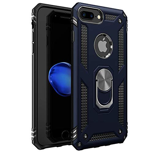 iPhone 7 Plus Case | iPhone 8 Plus Case [ Military Grade ] 15ft. Drop Tested Protective Case | Kickstand | Compatible with Apple iPhone 8Plus / iPhone 7 Plus- Royal Blue
