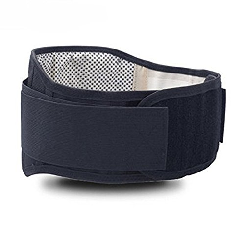 - Adjustable Tourmaline Self Heating Magnetic Therapy Waist Support Belt Lumbar Back Waist Brace Double Band Health Care