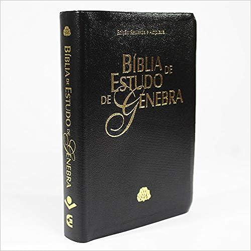 Bíblia de Estudo de Genebra - Couro bonded Preto: Almeida Revista e Atualizada (ARA)
