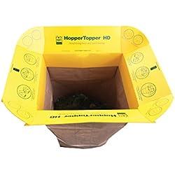 HopperTopper HD HTOPP001 Plastic Lawn and Leaf Bag Funnel