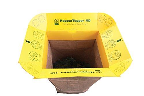 HopperTopper HD HTOPP001 Plastic Lawn and Leaf Bag Funnel (Lawn Funnel)