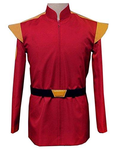 3-CM Futurama Costume Zapp Brannigan Red Uniform Costume (Men-L) -