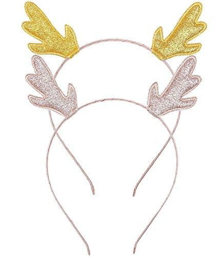 CAKYE Glitter Antlers Christmas Headband product image