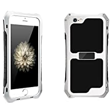 2016 NEW R-just Aluminum Metal Waterproof Shockproof Dust Case Gorilla Glass Silicon Rubber Metal Frame Bumper Military Heavy Duty Premium Protection Armor For iPhone 5/5s/SE - Silver