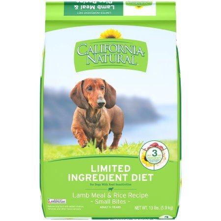California Natural LID Lamb Meal & Rice Formula Small Bites Dry Dog Food, 13 lb