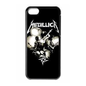 caja del teléfono celular del Funda iPhone 5c funda U4W1BT metallica Negro
