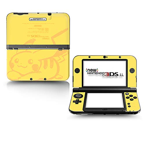 Ci-Yu-Online VINYL SKIN [new 3DS XL] - Pikachu Yellow #6 - Limited Edition STICKER DECAL COVER for NEW Nintendo 3DS XL / LL Console System