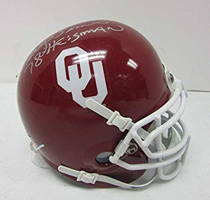 Steve Owen   Billy Sims Heisman Signed Oklahoma Sooners Mini Helmet - PSA  DNA Certified - Autographed College Mini Helmets cfbfd8a0c