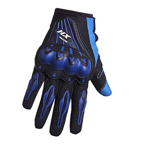 AINIYF Full Finger Motorcycle Gloves | Motocross Anti-skid Slip Breathable Cycling Racing Locomotive Touchscreen Outdoor Gloves Male Summer Knight Equipment (Color : Blue, Size : M) by AINIYF (Image #6)