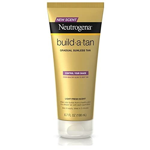 Neutrogena Build-A-Tan Gradual Sunless Lotion, 6.7 oz Per Bottle (4 Pack)