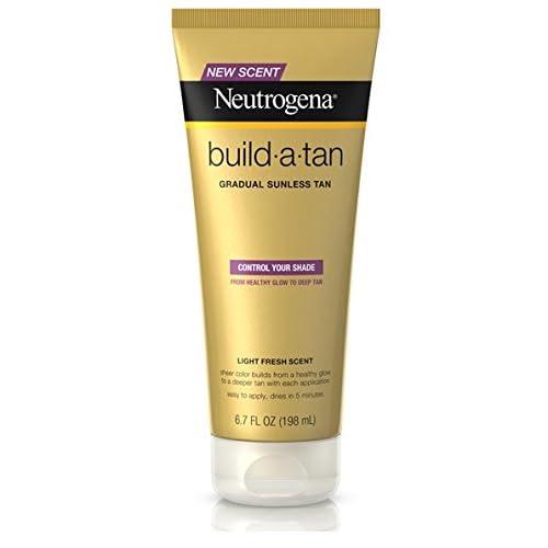 Neutrogena Build-A-Tan Gradual Sunless Lotion, 6.7 oz Per Bottle (5 Pack)