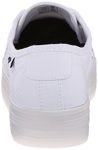 Raket Hond Vrouwen Magic Canvas Mode Sneaker Wit