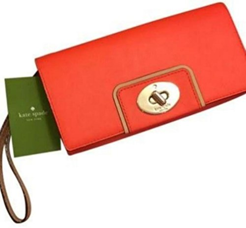 Kate Spade Hampton Road Turnlock Mara Wallet Flame orange $228