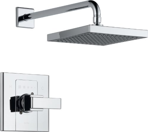 Delta Faucet Arzo 14 Series Single-Function Shower Trim Kit with Single-Spray Touch-Clean Shower Head, Chrome T14286-SHQ (Valve Not Included)