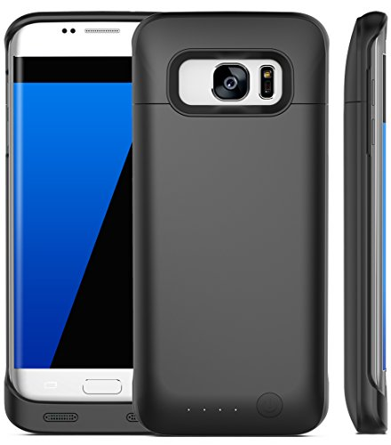 Galaxy S7 Edge Battery Case, iPosible [5500mAh] External Battery Charger Case for the Galaxy S7 Edge Juice Power Battery Pack-Black [24 Month Warranty] (5500 Chip)