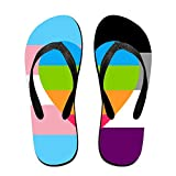 Rainbow Flag Of PI Cool Flip Flops For Children Adults Men And Women Beach Sandals Pool Party Slippers