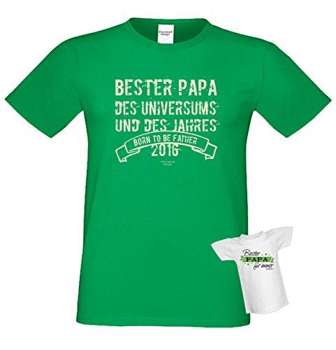 Tshirt Bester Papa Des Universums Grun Lustiges Spruche Shirt Fur