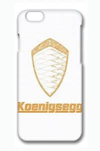 iPhone 6 Case - Full-Body Rugged 3D Print Hard Cases for iPhone 6 Koenigsegg Car Logo 6 Ultra Fit Customized Designs Cases for iPhone 6 4.7 Inches