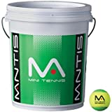 MANTIS Green Tennis Stage 1 Balls Bucket 6 Dozen