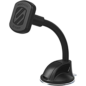SCOSCHE MAGTHD2 MagicMount XL Universal Magnetic Suction Cup Mount Holder for Mobile Devices, Black