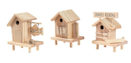 Darice 9159-50 Unfinished Wood Pier House (Bird Unfinished Wood)