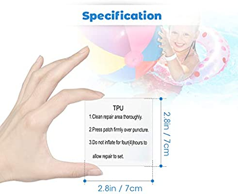 Zonon Tent Repair Tape 3.1 x 150 Inch Waterproof Tent Patch TPU Transparent Tenacious Tent Flex Tape for Camping Tent Awnings Swimming Ring Inflatable Boats Air Mattresses