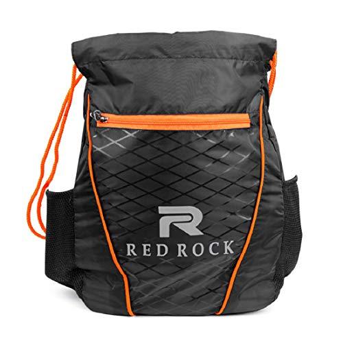 Red Rock Drawstring Bag 5 L Multipurpose Unisex Drawstring Bag Black & Orange with Bottle Pocket Price & Reviews