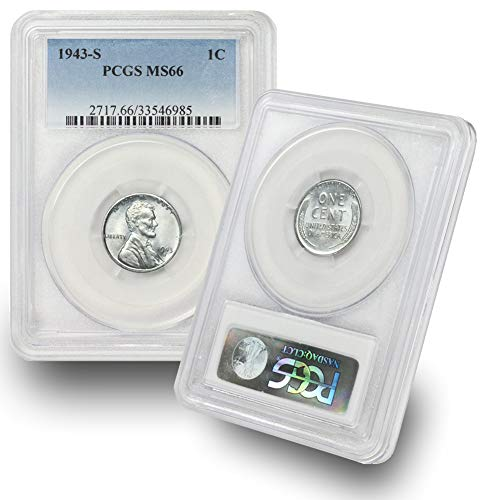 1943 S Lincoln Wheat Steel Cent 1c MS66 PCGS ()