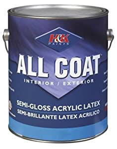 H K Paint Company Acrylic Latex Paint Interior Exterior Semi Gloss Vintage White 1 Gl