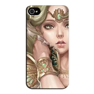 Abstract Wallpapers Red TPU Fantasy Girl Protective Hard Case For Iphone 4/4s