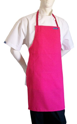 chefskin-adult-apron-hot-pink-fuchsia-ultra-lightweight-cool-fresh-100-polyester-filmsy-lightweight-