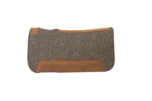 Weaver Leather All Natural 100% Wool Felt Pony Saddle Pad, Gray