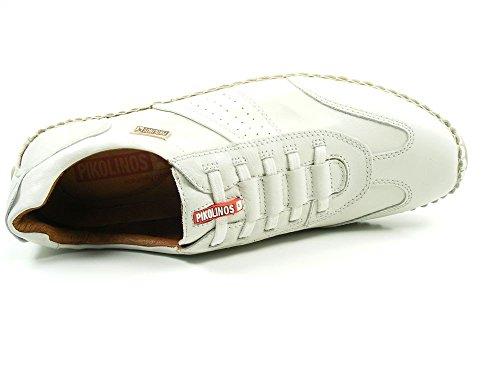 Pikolinos 08J-6582 Fuencarral Zapatos Mocasines de cuero para hombre Weiß