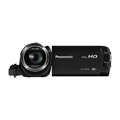 Panasonic HC-W570 Super Zoom Camcorder with Built-in WiFi + Sony 32GB SDHC Memory Card + Deluxe Accessory Kit by Panasonic
