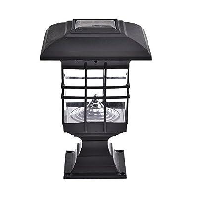 HUVE Waterproof LED Solar Panel lamps Pillar Wall Lamp led Solar Lights Outdoor Sconce Home Luminarias Garden Decorative Lighting