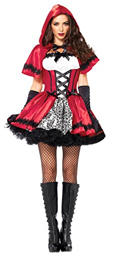 Gothic Red Riding Hood (Gothic Red Riding Hood Costume - Small - Dress Size 4-6)