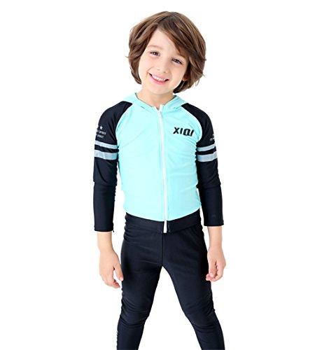 TenMet Boy's Unisex Long Sleeve Swimwear Rashguard