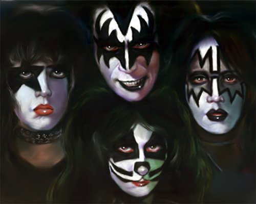 The Kiss, Ace Frehley Hard Rock Group Poster Painting Drawing By Artist Eugene
